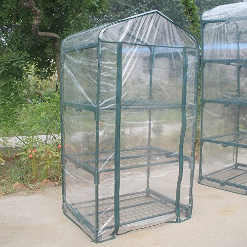 Portable Plant Greenhouse Mini Warm Flower Plants Garden Green House Clear Waterproof Mini Plant House for Outdoor Planting 27.17 x 19.27 x 49.61 inch