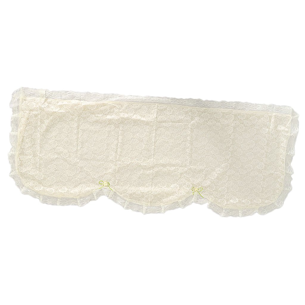 MagiDeal Dustproof Electric Piano Antidust Lace Double Layer Cover Cloth for Pianist 64.96x27.56inch - Yellow