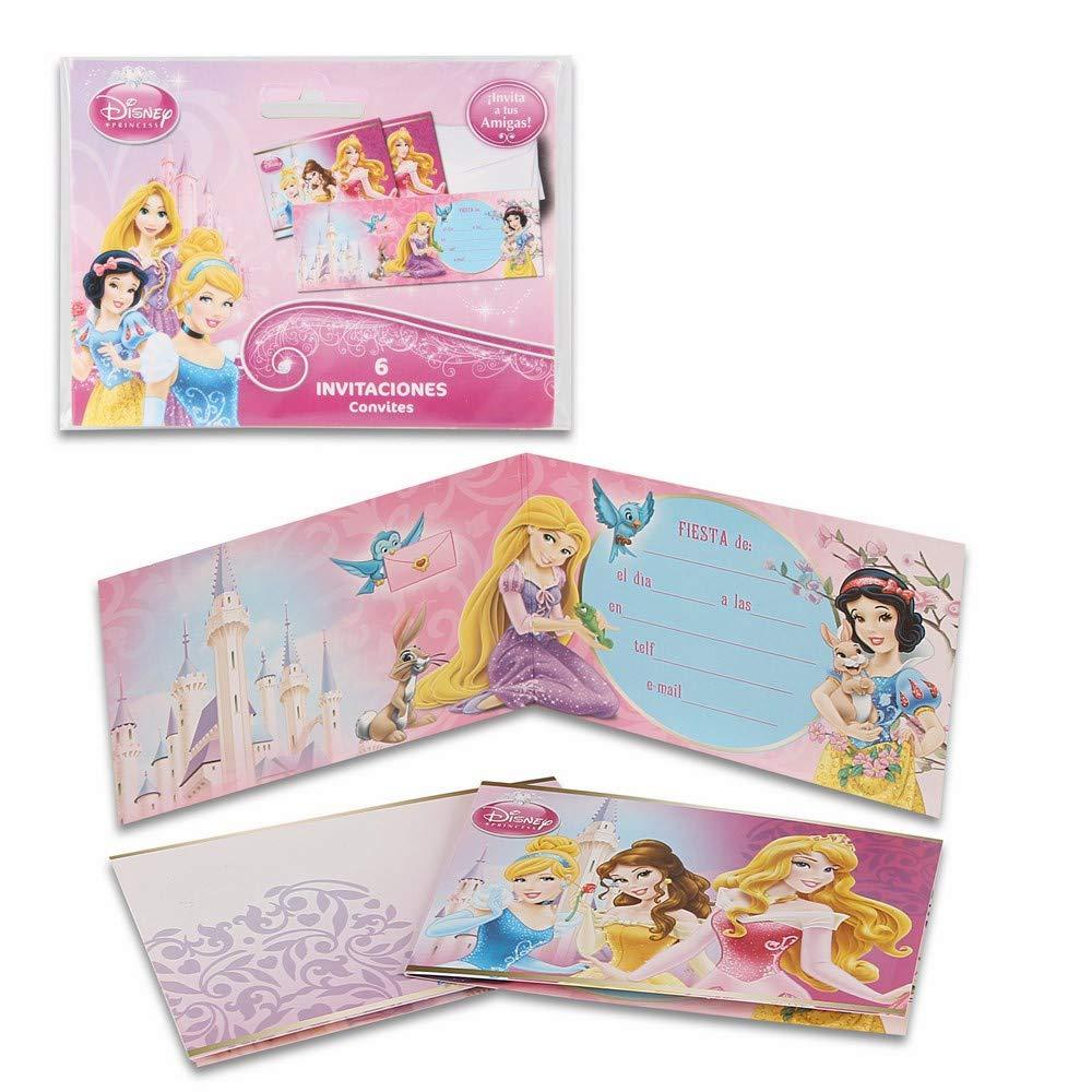ALMACENESADAN 68355, Pack 6 Invitaciones Dinsey Princesas ...