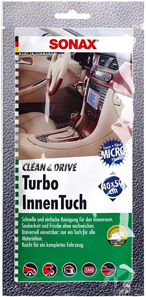 Sonax 4130000 Clean Drive Turboinnentuch 40x50 Thekendisplay 1 Stück Reinigt Sanft Und Gründlich Alle Glatten Und Rauen Oberflächen Im Innenraum Art Nr 04130000 1 Auto