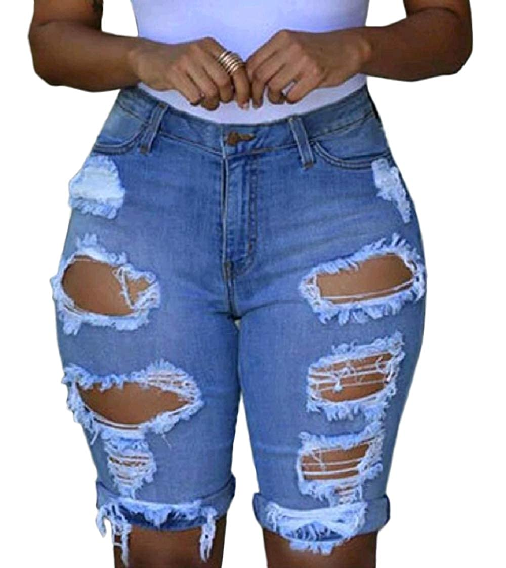 Pandapang Mens Bermuda Faded High Rise Distressed Vogue Hot Denim Shorts