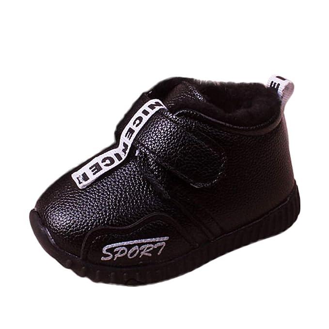 ❤ Botas de Nieve para niñas algodón, Bebé Infantil Niño Niñas Niños Invierno Cálido Calzado Deportivo Botas de Nieve Zapatillas de Deporte Absolute: ...