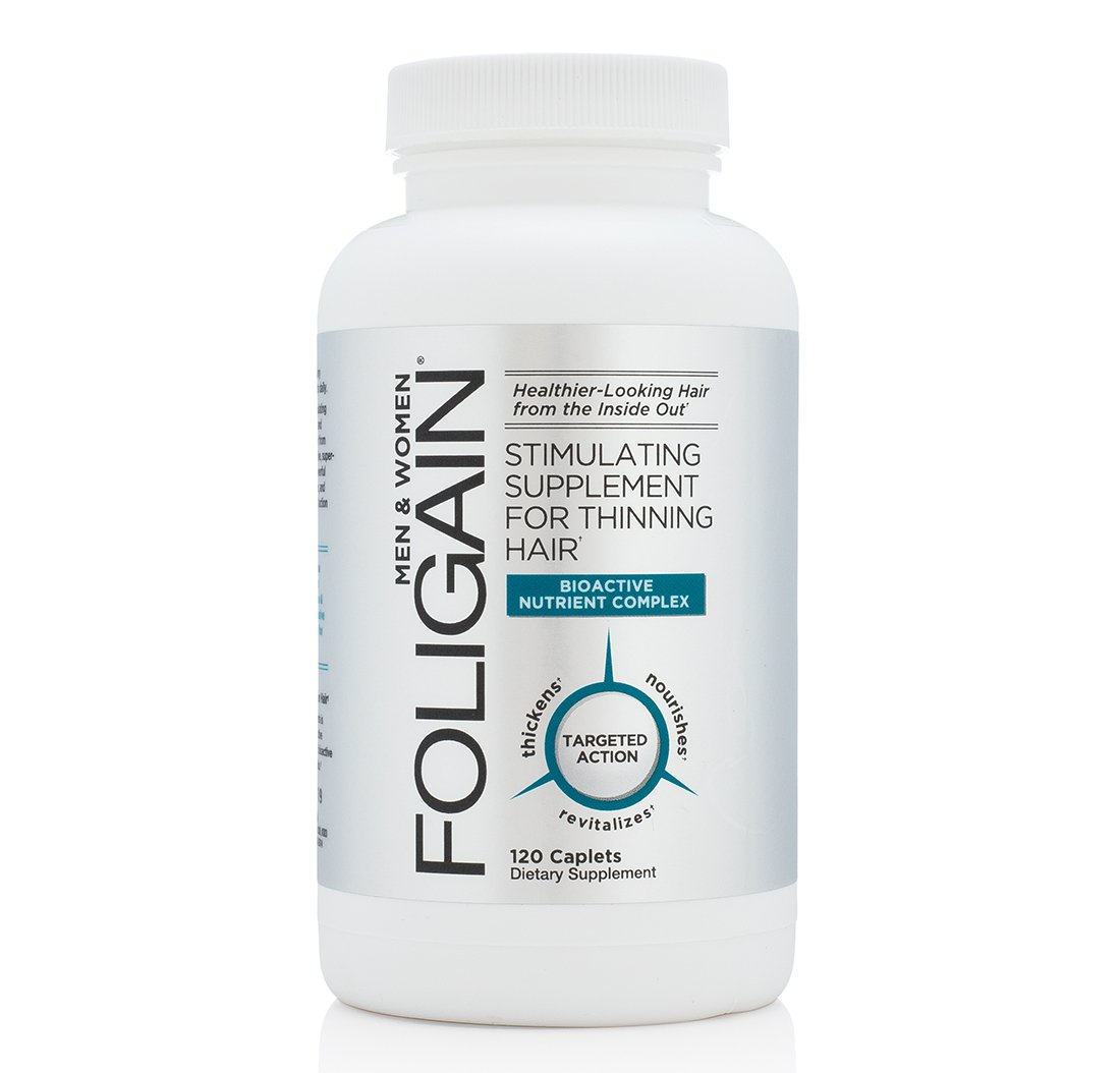 FOLIGAIN Stimulating Supplement For Thinning Hair, 120 Count WR GROUP INC