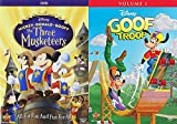 Mickey & Goofy & Donald Goofball Disney Characters Collection - Mickey, Donald, Goofy The Three Musketeers + Goof Troop: Volume 1 (27 Total Episodes / 1 Feature Film DVD Bundle)