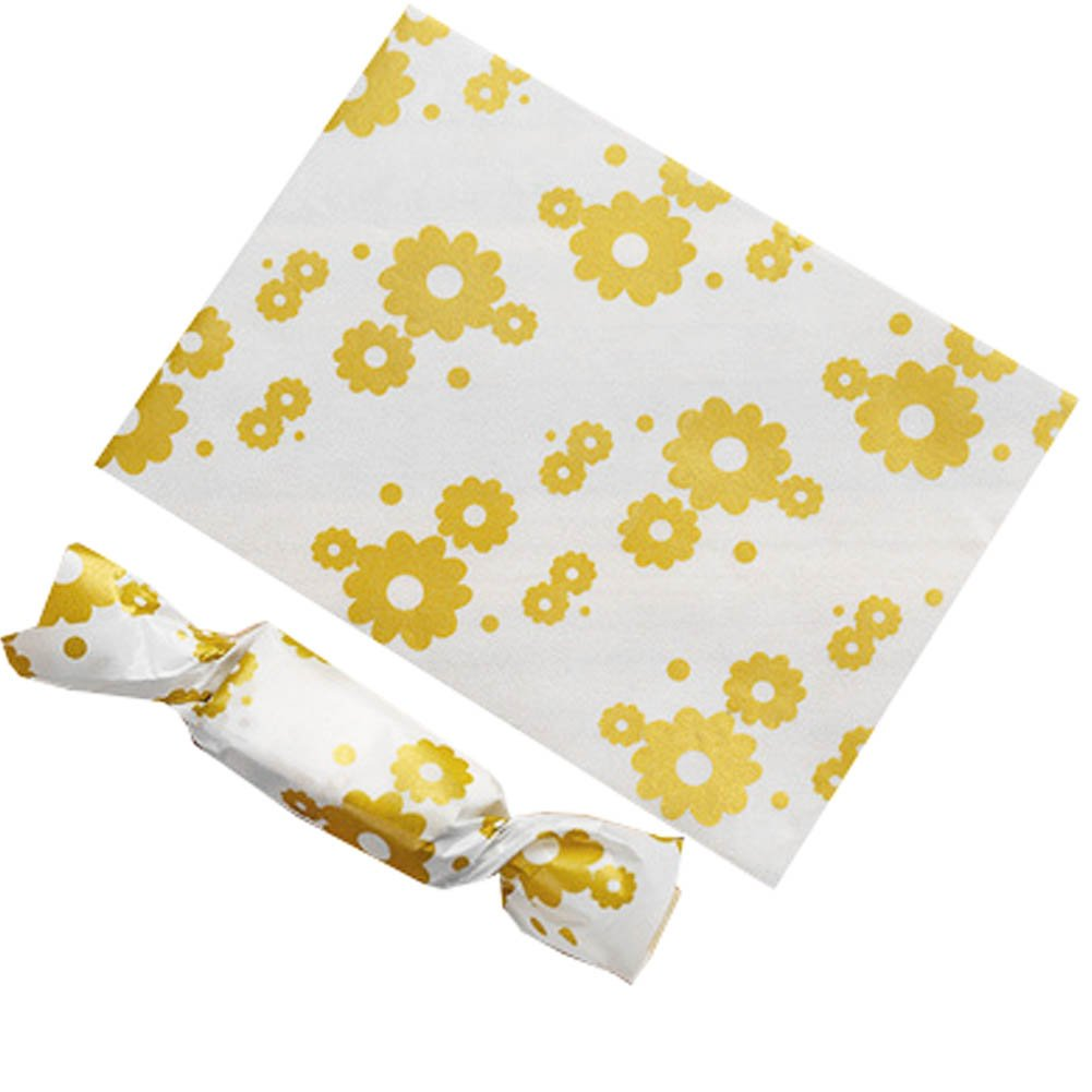 Blancho Bedding 500PCS Candy Wrappers Caramel Wrappers Packaging Bags Twisting Wax Paper 9x12.5cm, a2