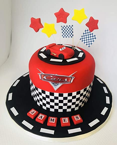 Pleasing Mcqueen Cake Toppers Edible Icing Personalised Birthday Personalised Birthday Cards Paralily Jamesorg