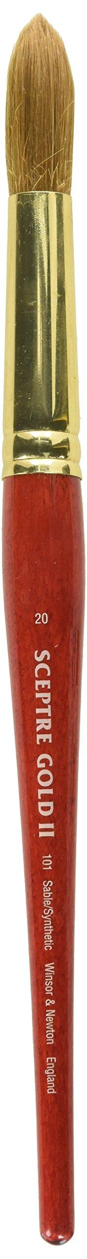 Winsor & Newton Sceptre Gold II Series 101 Short Handle Brush-Round #20 by Winsor & Newton