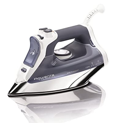 Rowenta DW8080 Professional Micro Steam Iron Stainless Steel Soleplate with Auto-Off, 1700-Watt, 400-Hole, Blue