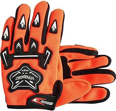 Leopard Reinforced Adult Motocross Motorbike Gloves Protecting Cycling Hiking Bike Gloves 12cm Orange XXL
