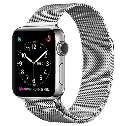Apple Watch Milanese Band 38mm, SICCIDEN Magnetic Mesh Loop Milanese Stainless Steel Replacement iWatch Band for Apple Watch Series 2, Series 1, Silver