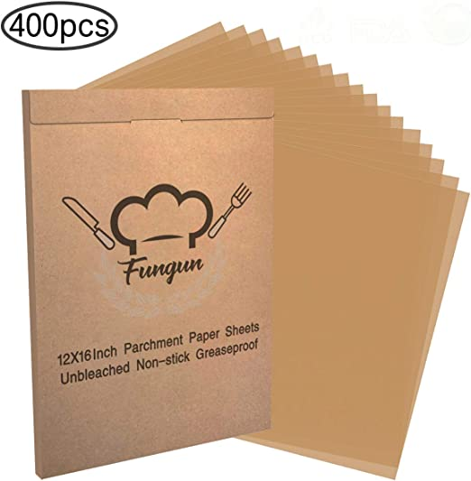 Parchment Paper Sheets For Baking-Fungun Precut White Parchment Paper Liners For 12 X 16 Cookie Sheets /& Pans Best For Non-Stick Baking 300 Sheets