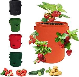 ZHUPI Non-Woven Felt Anti-Corrosion Vegetable Growing Potato Strawberry Garden Supplies Nursery Pot Plant Pot Plant Container Grow Bag(10 Gallon Green)