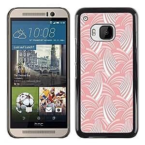 Paccase / SLIM PC / Aliminium Casa Carcasa Funda Case Cover para - Pink White Stripes Pattern Art Wallpaper - HTC One M9