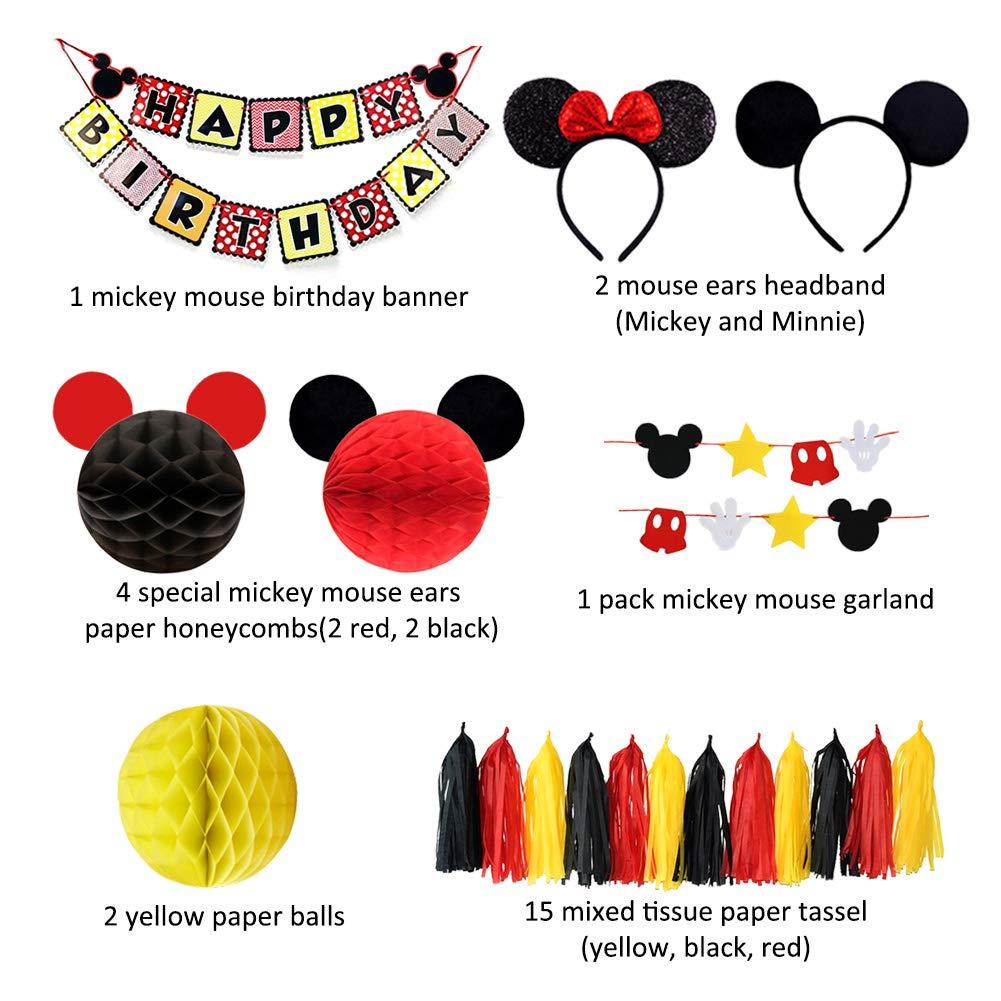 Decoraciones para Fiestas de Mickey Mouse Mickey Themed Diadema ...