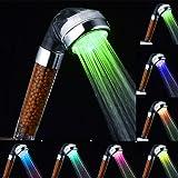 Pommeau De Douche, Pommeau Douche , Marsoul Rainbow Head Douchette De Douche à l'eau Douche à LED Changement De Douche à Eau Chaude Pulvérisateur Rainbow Waterfall Chlorine Filter (Arc-En-Douche)