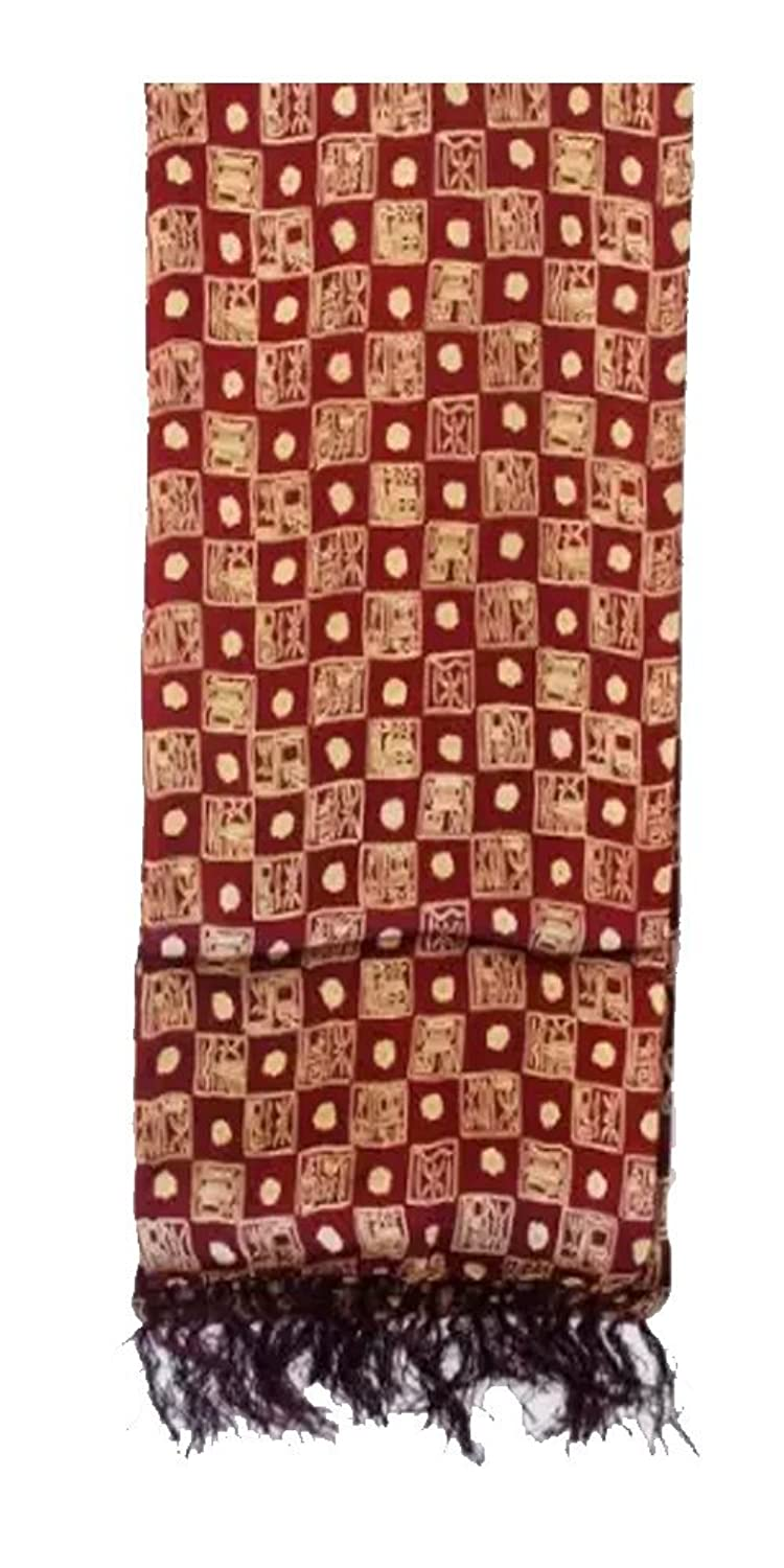 Silk Scarf - Ancient Chinese Calligraphy - Bordeaux