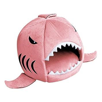 Wunderbar Katze Haustier Hai Bett Welpenhund Kuscheliges Kissen Matte Verschachtelung  Rest Haus Pink M