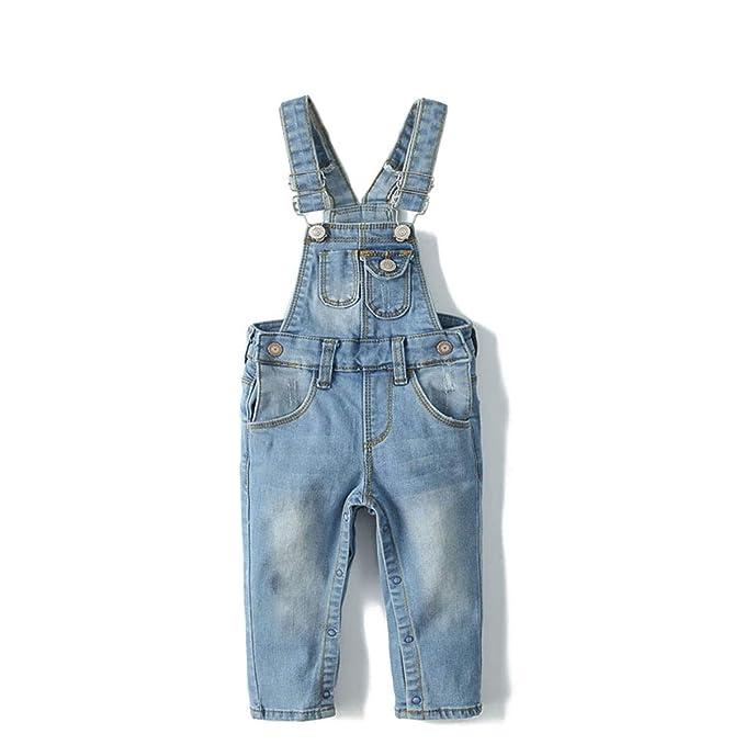 Kidscool Baby Adjustable Open Legs Light Blue Big Bibs Jeans Overalls,Blue,2-3 Years best toddler jeans
