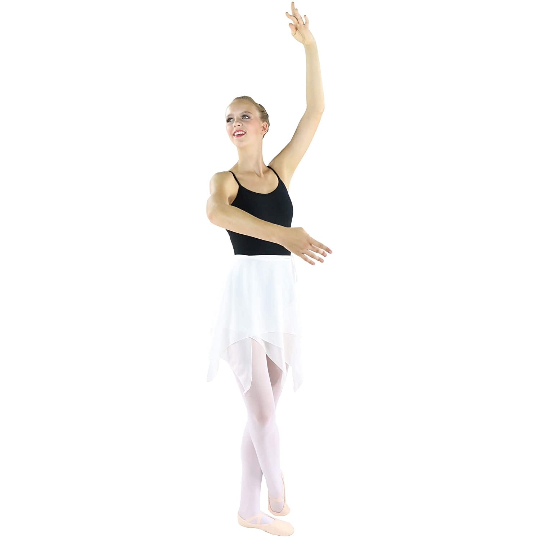 Danzcue Falda asim/étrica de Baile de Ballet para Mujer