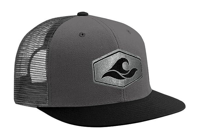 43be822f Joe's USA Koloa Surf Hexagon Patch Logo MESH Snapback Hat-Black/w at Amazon  Men's Clothing store: