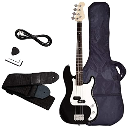 Electric Bass Guitar, Safeplus Starters Acoustic Guitar Full Size 4 String Package with Guitar Bag, Strap, Guitar pick, Amp cord best bass guitar