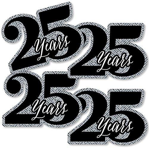 We Still Do - 25th Wedding Anniversary - Decorations DIY Anniversary Party Essentials - Set of 20]()