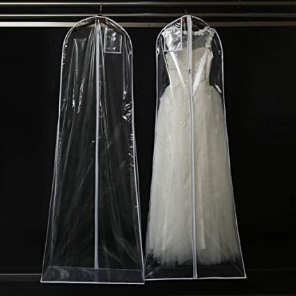 97a047eeca17 Amazon.com: INLAR Garment Bag Clear,165/180cm Long-Dress Moth Proof ...
