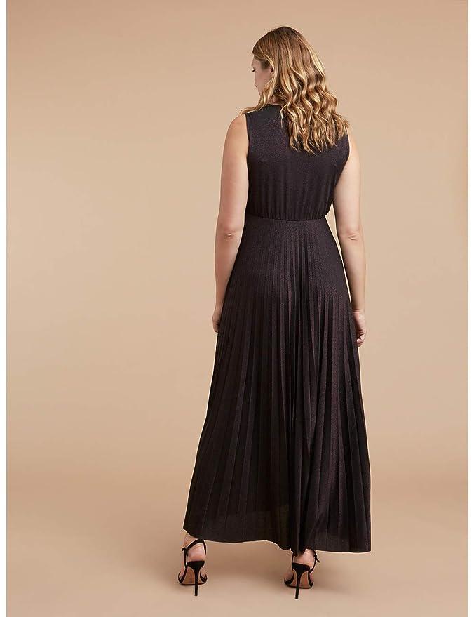 Italian Plus Size Vestito Stampa Checks Fiorella Rubino