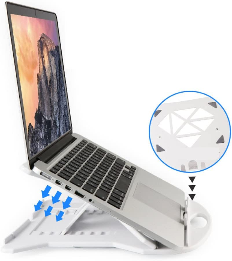 Laptop Stands LDFN Apple Aluminum Alloy Heat Sink Increased Bracket Universal Table Stand Protect The Cervical Spine,White-28282cm