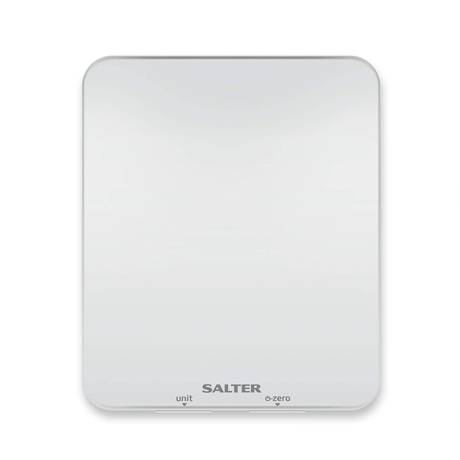 Salter Ghost Digital Kitchen Scale - Electric Food Weighing Scales for Cooking and Baking, Hidden Until Lit Easy to Read LCD Display, Metric / Imperial Weight Measurements, 15 Year Guarantee - White