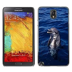 SHIMIN CAO- Dise?o Caso duro de la cubierta Shell protector FOR Samsung Galaxy N9000 N9008V N9009- Dolphins sea