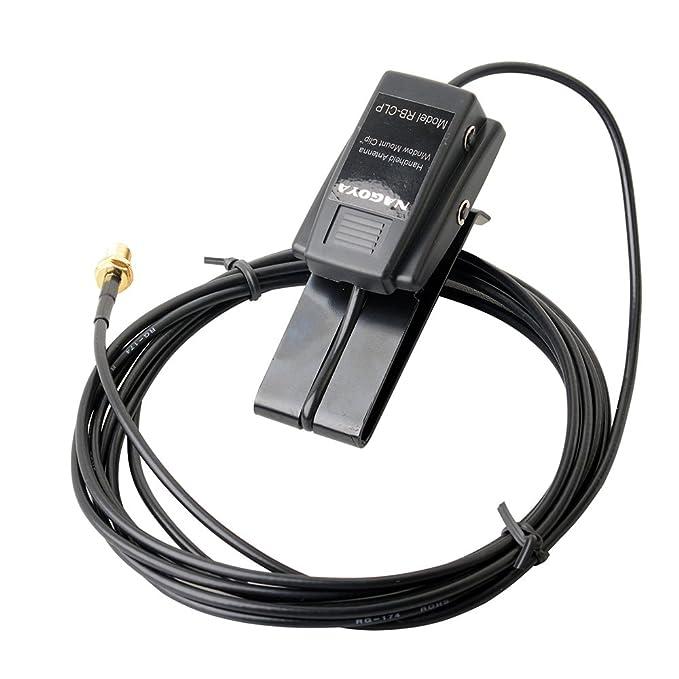 NAGOYA RB-CLP SMA-Female Window Clip Mount w/RG-174/U 3M For Two way Radio Antenna Extend Cable Car Radio Accessroy Walkie talke