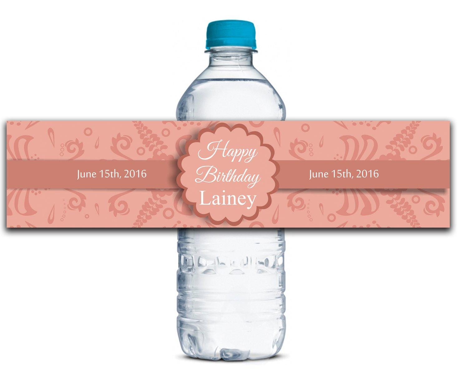 Kundenspezifische Wasserflasche Etiketten Selbstklebende wasserdichte Personalisierte Geburtstags-Aufkleber 8    x 2  Zoll - 50 Etiketten B01A0W5AIE | Verkauf Online-Shop  78a425
