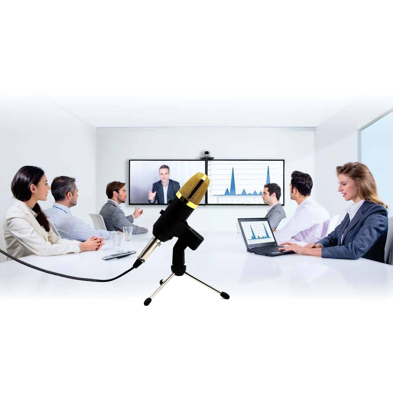 Aufnahme mit 2,5 m Kabel Amytech Kondensatormikrofon USB Plug /& Play Mikrofon f/ü r Computer Podcasting Windows, Mac, Linux OS