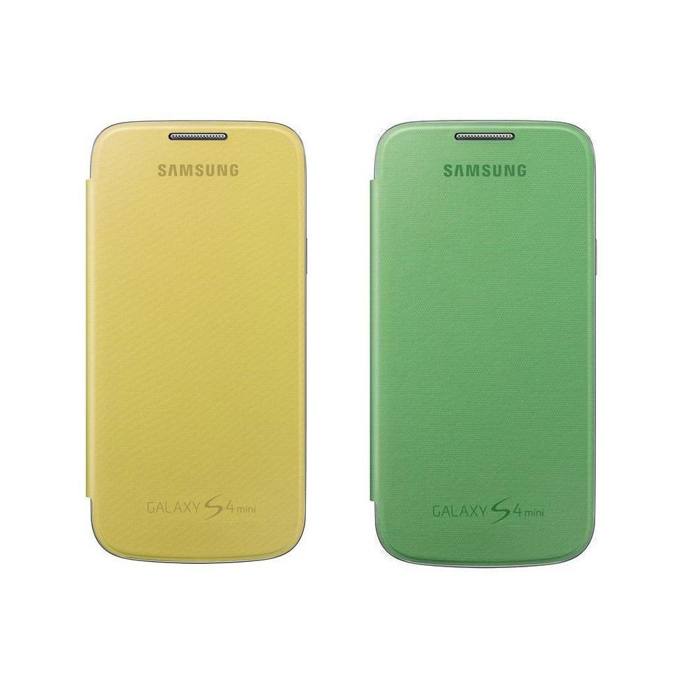 Samsung EF-Fi919BZEGWW - Funda Pack 2 Flip Cover Galaxy S4 mini (verde/amarillo)