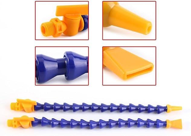 "12x 1//4/""PT Flexible Water Oil Coolant Pipe Hose Round Flat Nozzle for Lathe CNC"