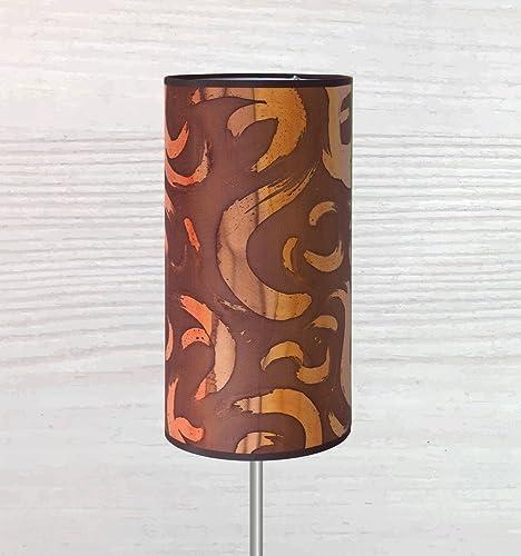 Pantalla de lámpara 100% seda pintada a mano. Apta como lámpara de ...