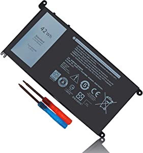 BE·SELL New 11.4V42WH Battery for Dell WDX0R Inspiron 13 5368 5378 5379 7368 7378 14-7460 15 5565 5567 5568 5578 7560 7570 7579 7569 P58F 17 5765 5767 5770 3CRH3 T2JX4 FC92N CYMGM