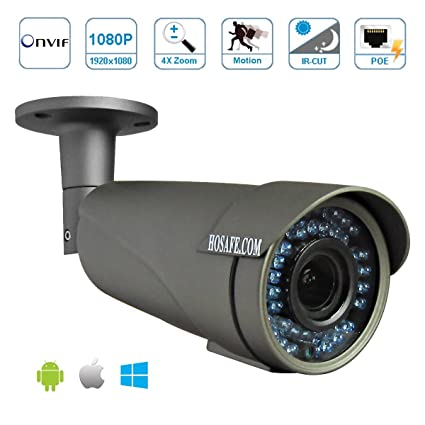 HOSAFE X2MB2AFG 4X AUTO focus 1080P POE Outdoor IP Camera ONVIF