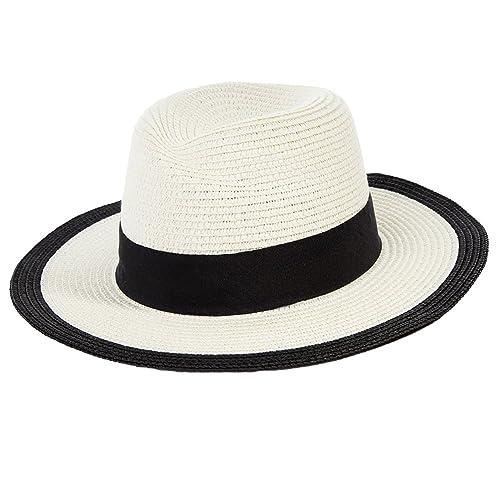 Siggi - Sombrero Panamá - para mujer Negro 88087_Beige única