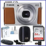 Canon PowerShot G9 X Mark II Digital Camera (Silver) PRO Bundle includes: 64GB SDXC Class 10 Memory Card, Card Reader, Extra Battery & more...