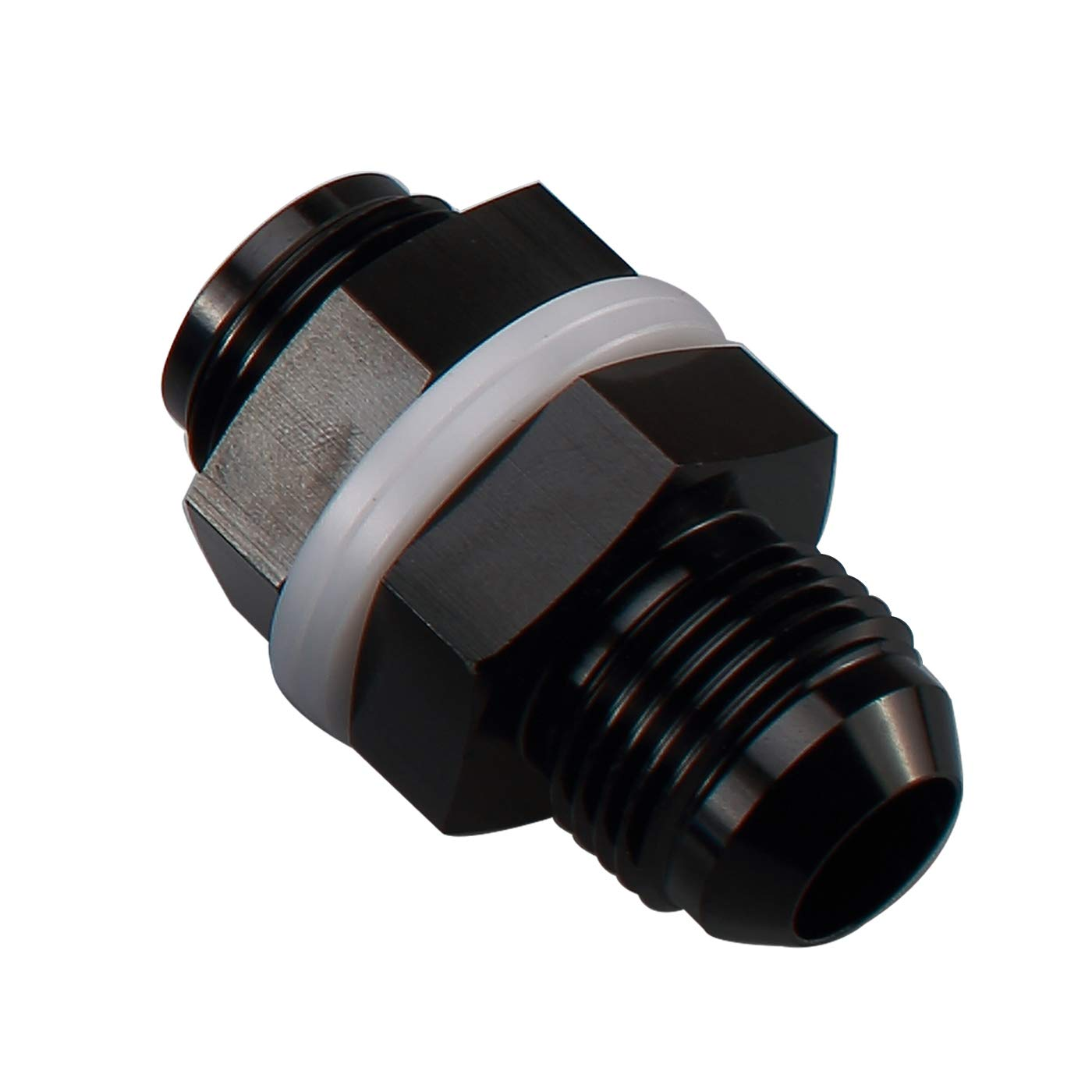 Aluminum 90 Degree Elbow Black 4 AN AN4 Male To 1//8 NPT Male Fitting Adaptor Connector