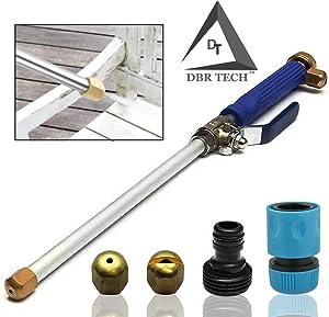 DBR Tech TM Hydro Jet High Pressure Power Washer, Pressure Washer Gun Whit Garden Hose End, Hydrojet Power Washer Nozzle (Dark Blue)
