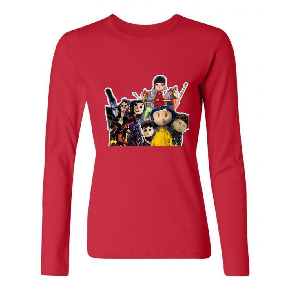 Amazon Com Jonnert Women S Coraline Characters Long Sleeve Cotton T Shirt 7773905500144 Books
