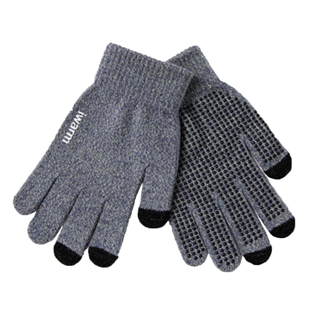 Wansan guanti touchscreen guanti da dito con lana calda per uomo