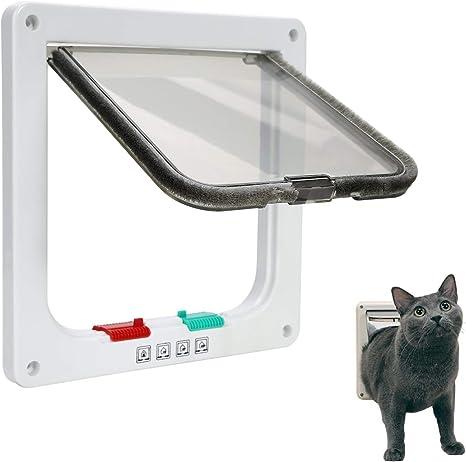 Ducomi - Gatera para Gatos y Perros de Pared - Puerta basculante ...