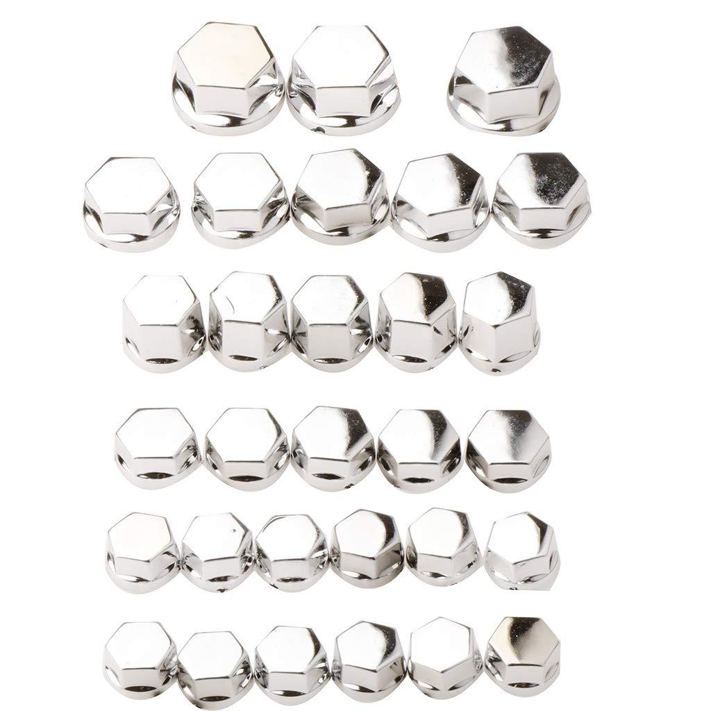 Dorado Sharplace 30 Piezas Universal Tapones Tapas de Tornillos Tuerca para rueda Neum/ática Llanta de Coche