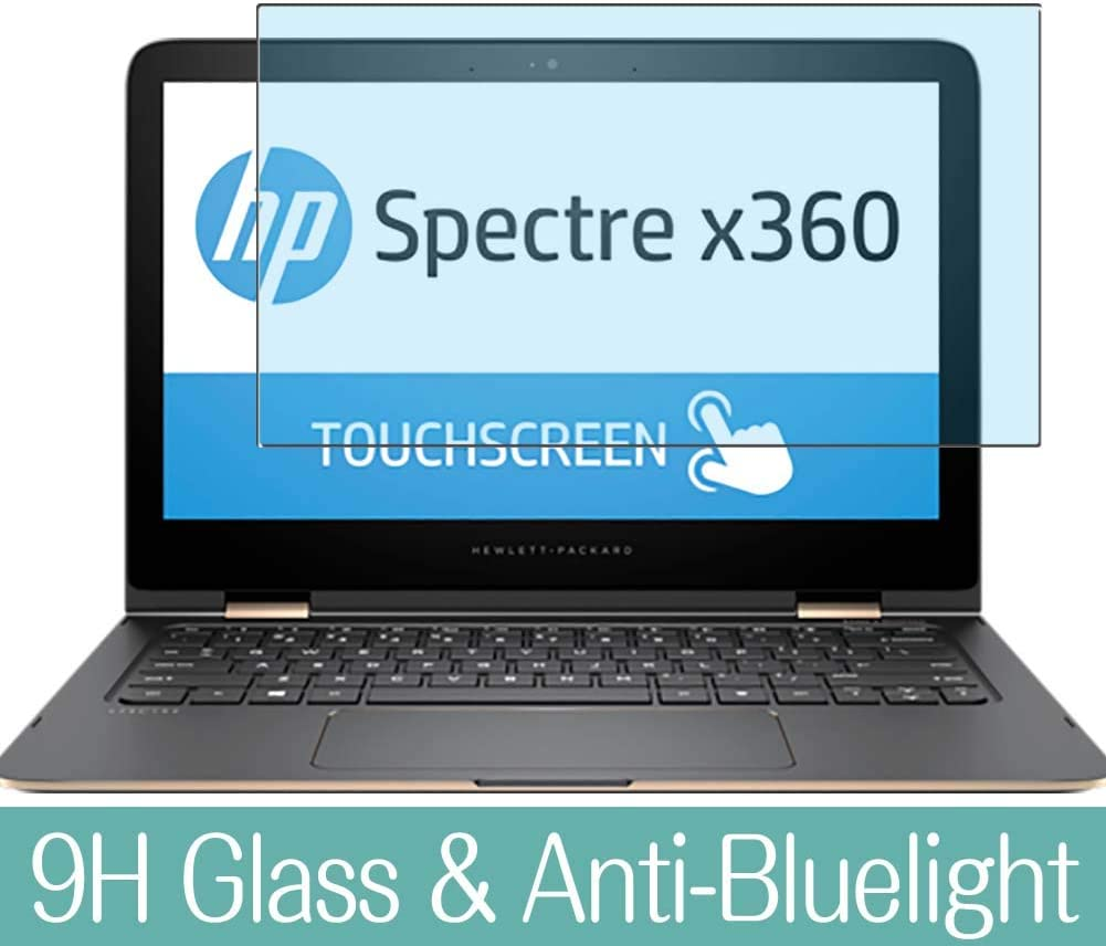 Synvy Anti Blue Light Tempered Glass Screen Protector Compatible with HP Spectre x360 13-4102ng 13.3 inch Visible Area 9H Protective Screen Film Protectors (Not Full Coverage)
