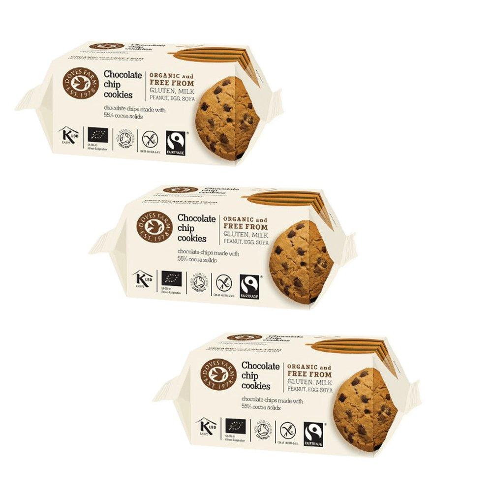 Doves Farm Galletas de Chocolate Cookie 180g Pack de 3: Amazon.es: Alimentación y bebidas