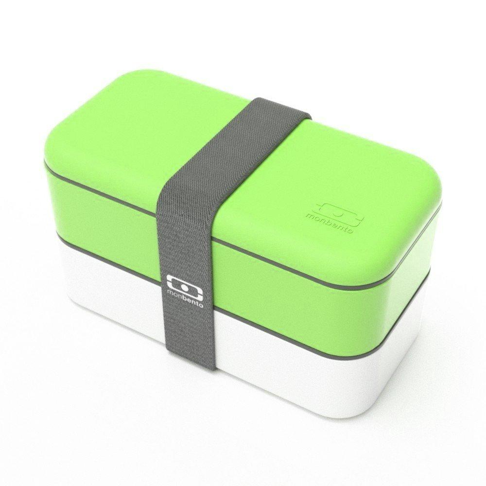 monbento 1200 02 105 MB Original Bento Box, Green/White